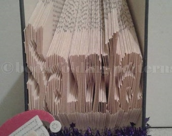 Santa word book folding pattern