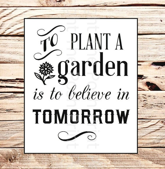 Items Similar To Reusable Stencil To Plant A Garden Is To Believe In Tomorrow 11 Square Mylar