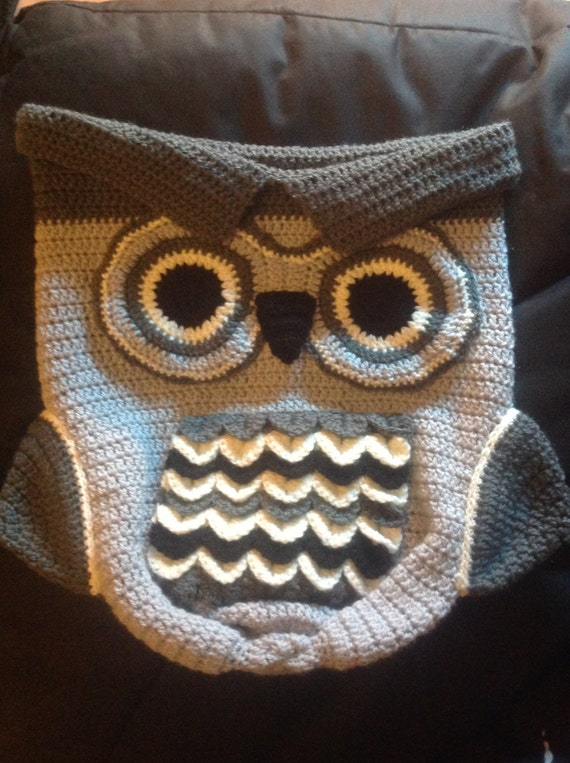 Luxury Crochet Owl Baby Cocoon & Hat set - Christening, Baby Shower ...