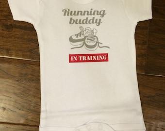 Running buddy in training onesie!