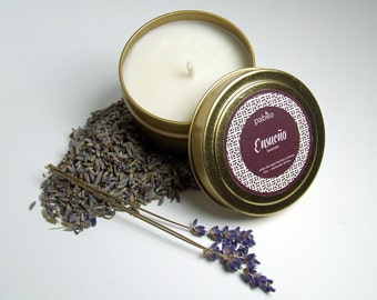 Ensueño  4oz tin// Lavender // Hand-Poured Natural Soy Candle