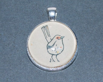 Pendant drawn bird