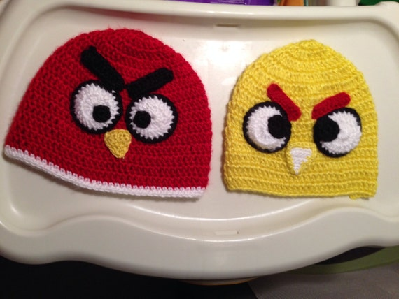 Crochet Hat Pattern Angry Bird : Angry birds crochet hat by SISTERSMARKET on Etsy
