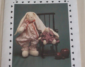 "The Cornell Collection ""Terry Cloth Bunnies"" NB152 pattern,rabbit doll,vintage"