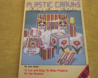 Baby's Room Delights,Plastic Canvas,booklet,patterns ,13 projects,nursery,needlecraft