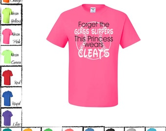Forget The Glass Slippers This Princess Wears Cleats Softball T-Shirt