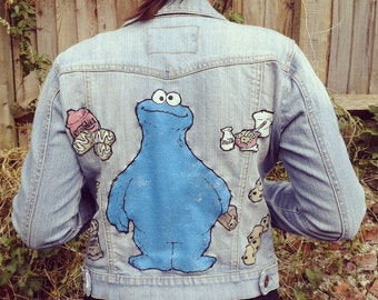 Hand-customized denim jacket
