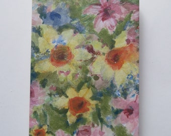 3x5 Notepad/Journal/Notebook Watercolor Flowers