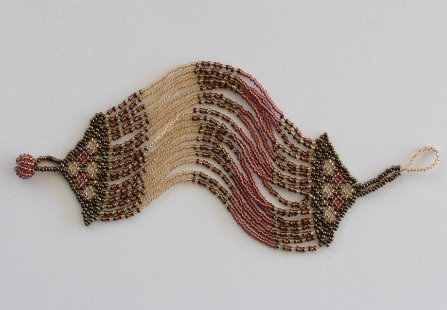 seed bead zulu bracelet multi strand bracelet