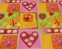 """Covington Amour Rose Flower Heart Fabric Sold by the Yard.  54"""" Wide"""