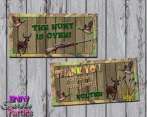 Printable HUNTING TREAT Bag TOPPERS - Hunting Treat Toppers - Camo Treat Bag Toppers - Hunting Birthday Party Favor Toppers - Camo Party