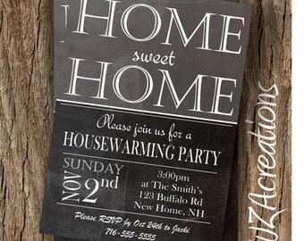 Housewarming Party Invitation - House Warming Invite - Housewarming Home Sweet Home Party-House Warming Invitation - Digital Download - W108