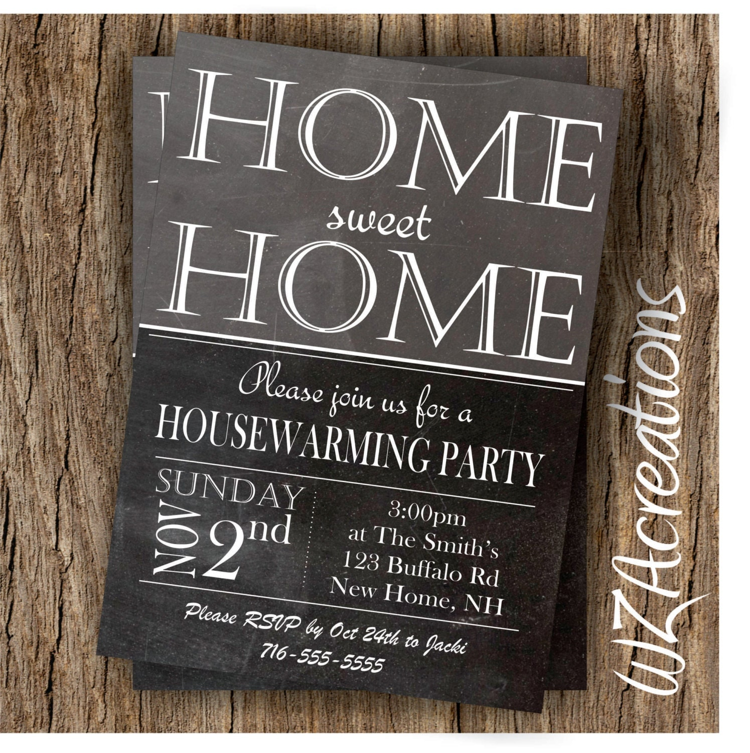 housewarming party invitation house warming invite. Black Bedroom Furniture Sets. Home Design Ideas