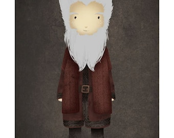 cute Balin print / the Hobbit