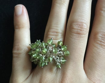 Vintage, Sterling Silver, Bouquet Ring