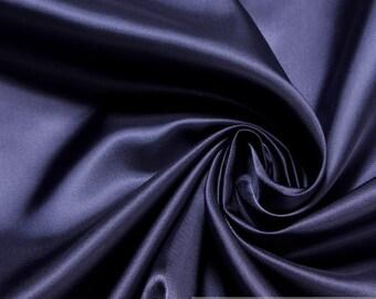 Fabric pure rayon taffeta dark blue soft lining viscose