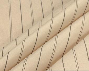 2 meters fabric rayon taffeta ecru stripe interlining lining viscose