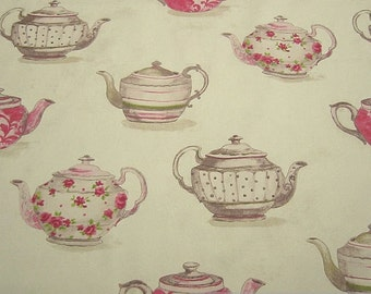 Fabric pure cotton teapot nature extraordinary