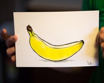 Watercolor painting of Banana