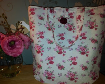 Sweet roses handmade bag