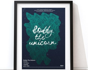 Bobby The Unicorn screenprint poster