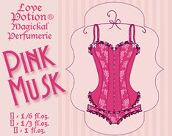 Pink Musk - 1/6 fl.oz. Concentrated Perfume Oil - Love Potion Magickal Perfumerie