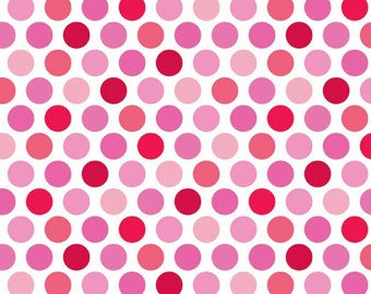 Lovey Dovey Pinks and Reds Polka Dot FLANNEL by Riley Blake - F3652-Pink
