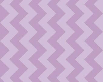 Medium Lavendar Purple Tone on Tone Chevron by Riley Blake - C380-121-LAVENDAR