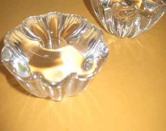 Vintage Orrefors lead crystal taper candle holders