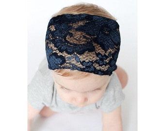 Navy Blue Lace Wrap