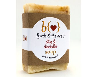 Citrus & Shea Butter hand milled soap
