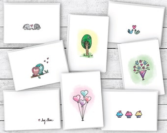 Valentine's Day Greeting Cards Collection - 24 Cards & Envelopes