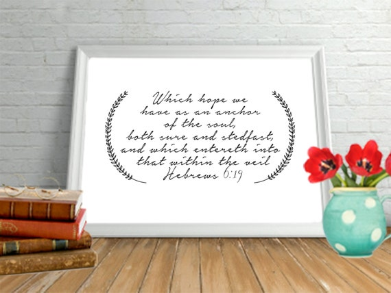 Items Similar To Bible Verse Art Printable DIY Home Office