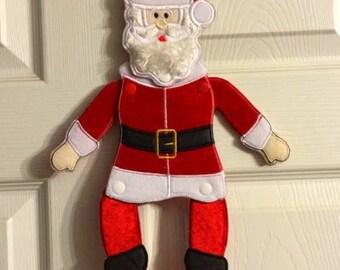 In Hoop Hanging Santa