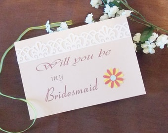 7 cards Bridesmaid, maid of honor, matron of honor card with envelope will you be my bridesmaid