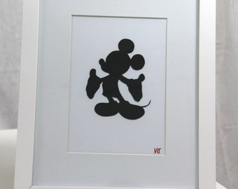 Disney Mickey Mouse Silhouette Framed Picture