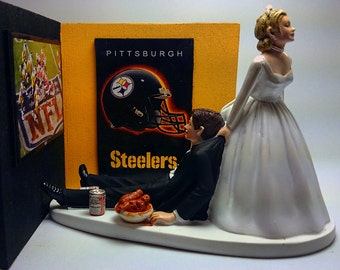 pittsburgh steelers wedding cake topper unavailable listing on etsy 18624