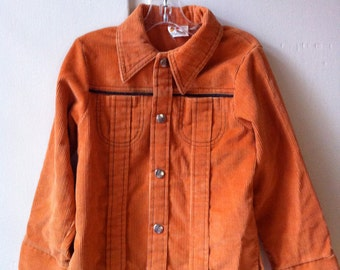 Sears orange corduroy jacket