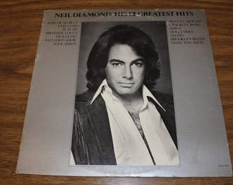 "Neil Diamond ""His 12 Greatest Hits"" LP 1974"