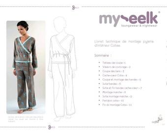 Patron of couture Pajamas Coba
