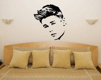 Justin Bieber Head   Childrenu0027s Bedroom / Living Room / Wall Art Sticker  Picture Decal Part 2