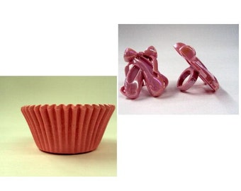 Ballet Slipper Rings with Pink Baking Cups