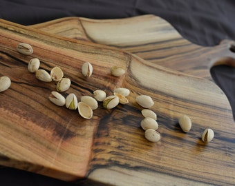 The Relaxer - Pistachio Wood Serving/Cutting Boards - Double Handled Pictured Here
