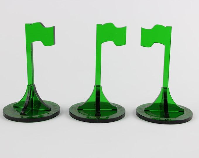 Green - War Machine 3d Objective Flag 3 pack