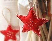 Two Rustic Felt Christmas Decorations