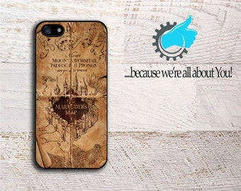 Harry Potter iPhone Case Rustic Marauder's Map Phone Cover For iPhone 4/4s 5/5s 5c 6/6+ 6s/6s+ 7 7+ SE Can add Monogram or Name!