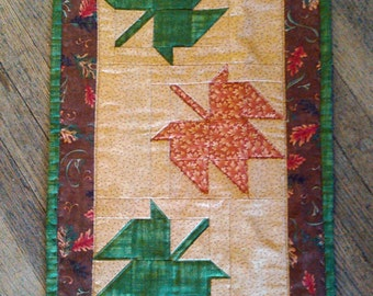 Autumn Leaves Table Runner or Wall Hanging