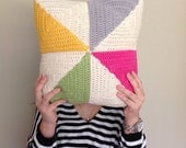 Crochet Pinwheel Cushion