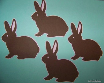 Chocolate Easter bunny die cuts