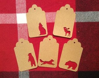 Die Cut Assorted Animals Tags